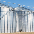Agricultural Grain tanks insulated with spray foam
